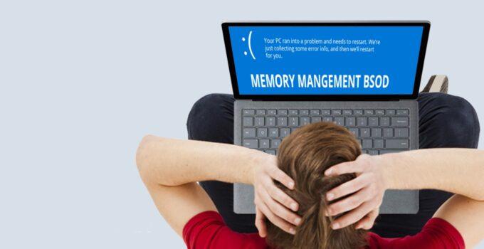 Stop Code Memory Management Error